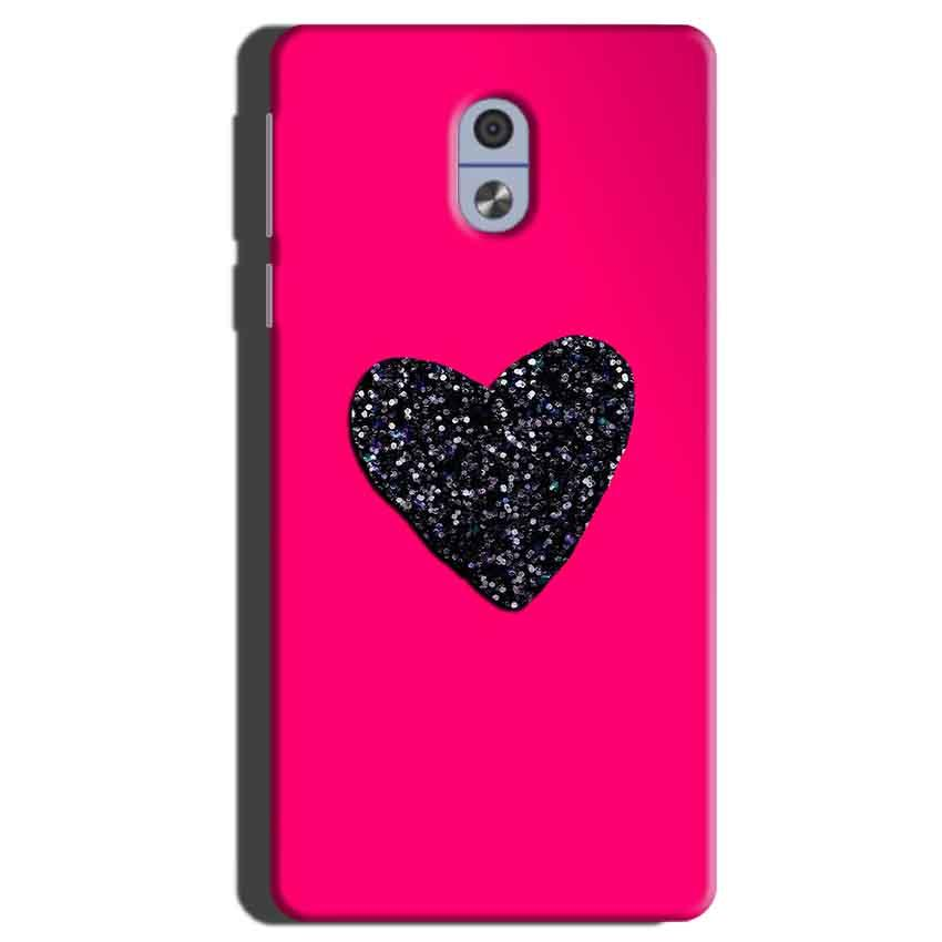 Nokia 3 Mobile Covers Cases Pink Glitter Heart - Lowest Price - Paybydaddy.com