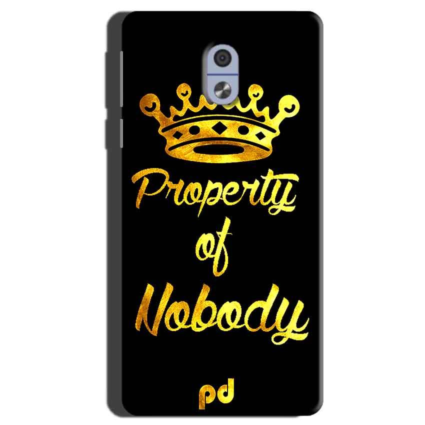 Nokia 3 Mobile Covers Cases Property of nobody with Crown - Lowest Price - Paybydaddy.com