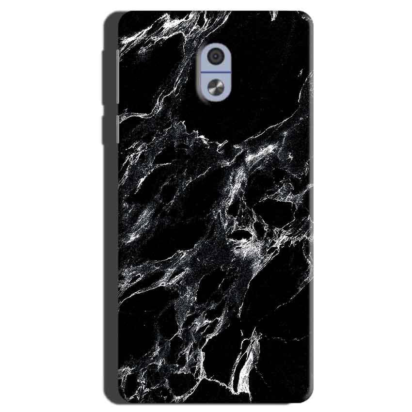 Nokia 3 Mobile Covers Cases Pure Black Marble Texture - Lowest Price - Paybydaddy.com