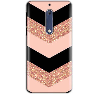 Nokia 5 Mobile Covers Cases Black down arrow Pattern - Lowest Price - Paybydaddy.com
