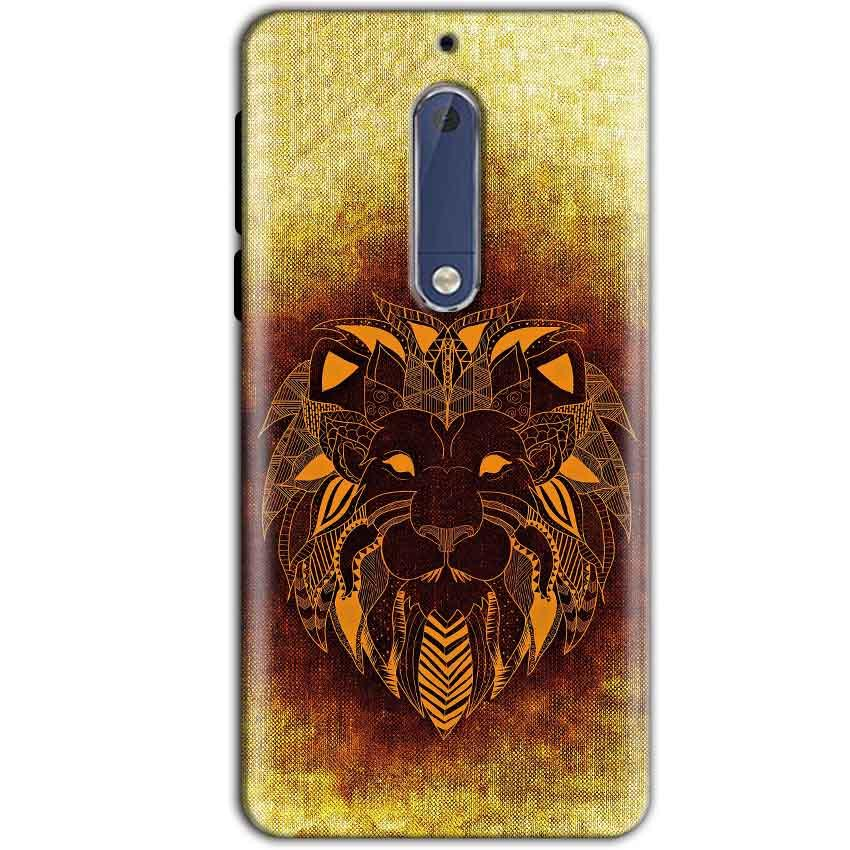 Nokia 5 Mobile Covers Cases Lion face art - Lowest Price - Paybydaddy.com