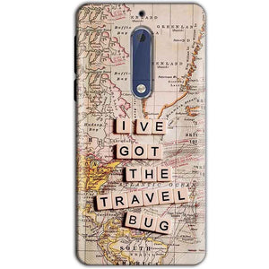 Nokia 5 Mobile Covers Cases Live Travel Bug - Lowest Price - Paybydaddy.com