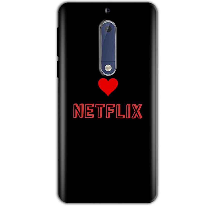 Nokia 5 Mobile Covers Cases NETFLIX WITH HEART - Lowest Price - Paybydaddy.com