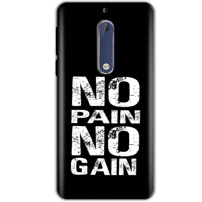 Nokia 5 Mobile Covers Cases No Pain No Gain Black And White - Lowest Price - Paybydaddy.com