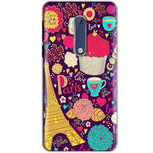 Nokia 5 Mobile Covers Cases Paris Sweet love - Lowest Price - Paybydaddy.com