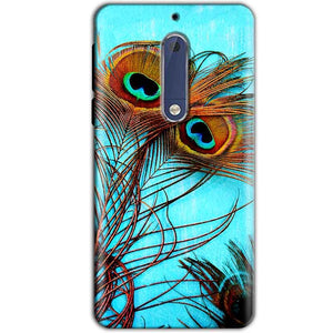 Nokia 5 Mobile Covers Cases Peacock blue wings - Lowest Price - Paybydaddy.com
