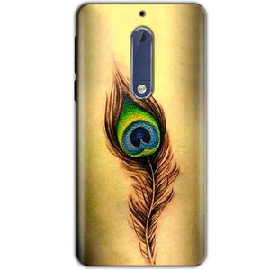 Nokia 5 Mobile Covers Cases Peacock coloured art - Lowest Price - Paybydaddy.com