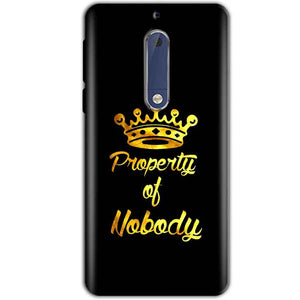 Nokia 5 Mobile Covers Cases Property of nobody with Crown - Lowest Price - Paybydaddy.com