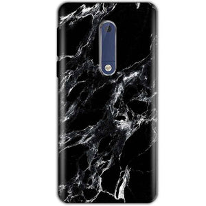 Nokia 5 Mobile Covers Cases Pure Black Marble Texture - Lowest Price - Paybydaddy.com