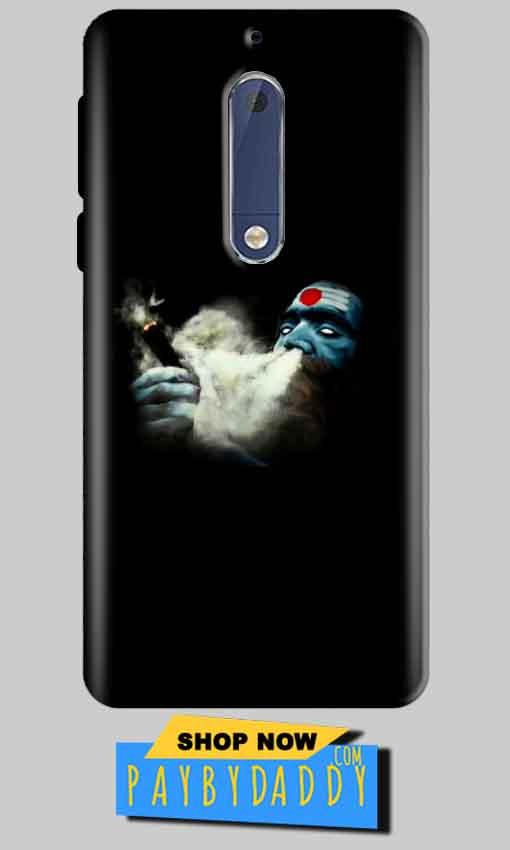 Nokia 5 Mobile Covers Cases Shiva Aghori Smoking - Lowest Price - Paybydaddy.com