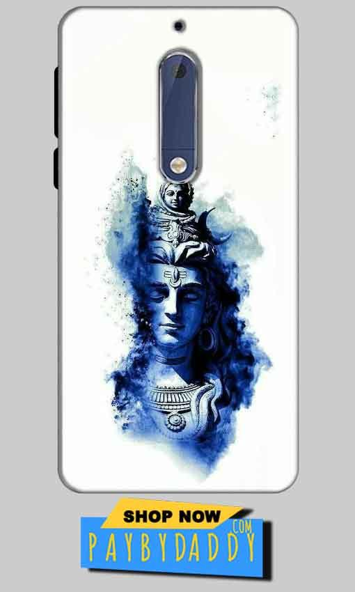 Nokia 5 Mobile Covers Cases Shiva Blue White - Lowest Price - Paybydaddy.com