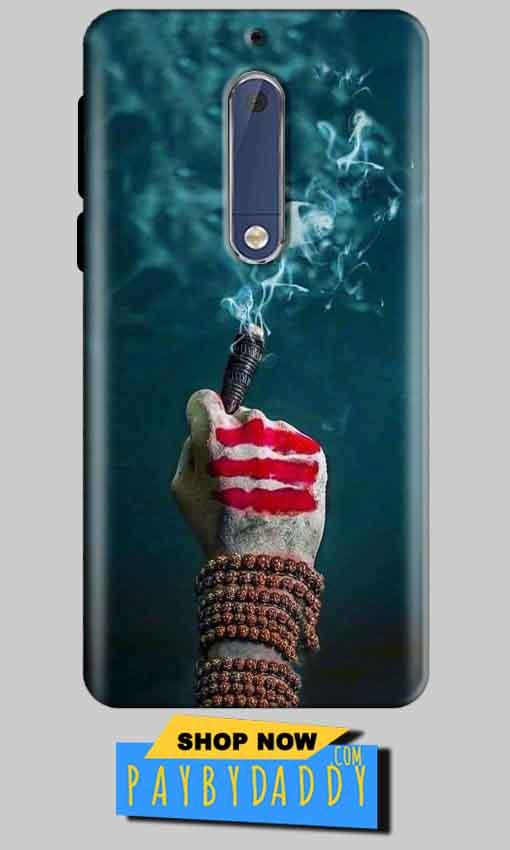 Nokia 5 Mobile Covers Cases Shiva Hand With Clilam - Lowest Price - Paybydaddy.com