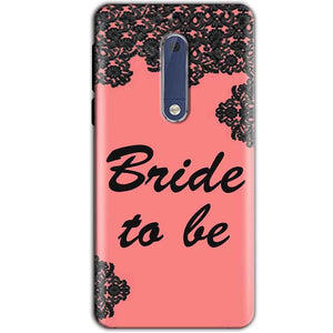 Nokia 5 Mobile Covers Cases Mobile Covers Cases bride to be with ring Black Pink - Lowest Price - Paybydaddy.com