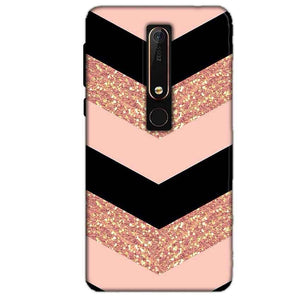 Nokia 6 2018 Mobile Covers Cases Black down arrow Pattern - Lowest Price - Paybydaddy.com