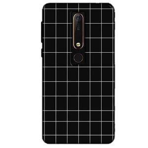 Nokia 6 2018 Mobile Covers Cases Black with White Checks - Lowest Price - Paybydaddy.com