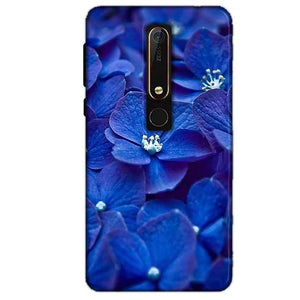 Nokia 6 2018 Mobile Covers Cases Blue flower - Lowest Price - Paybydaddy.com