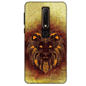 Nokia 6 2018 Mobile Covers Cases Lion face art - Lowest Price - Paybydaddy.com