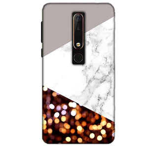 Nokia 6 2018 Mobile Covers Cases MARBEL GLITTER - Lowest Price - Paybydaddy.com