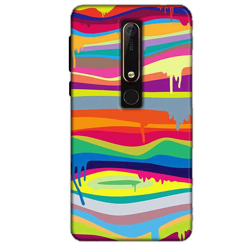 Nokia 6 2018 Mobile Covers Cases Melted colours - Lowest Price - Paybydaddy.com
