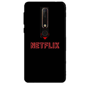 Nokia 6 2018 Mobile Covers Cases NETFLIX WITH HEART - Lowest Price - Paybydaddy.com