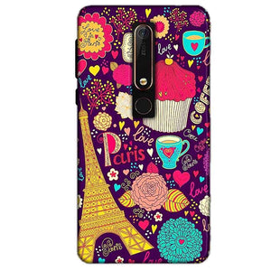 Nokia 6 2018 Mobile Covers Cases Paris Sweet love - Lowest Price - Paybydaddy.com