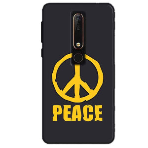 Nokia 6 2018 Mobile Covers Cases Peace Blue Yellow - Lowest Price - Paybydaddy.com
