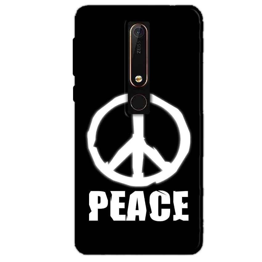 Nokia 6 2018 Mobile Covers Cases Peace Sign In White - Lowest Price - Paybydaddy.com