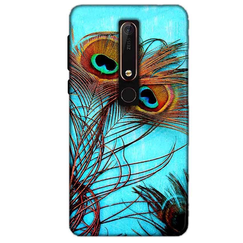 Nokia 6 2018 Mobile Covers Cases Peacock blue wings - Lowest Price - Paybydaddy.com