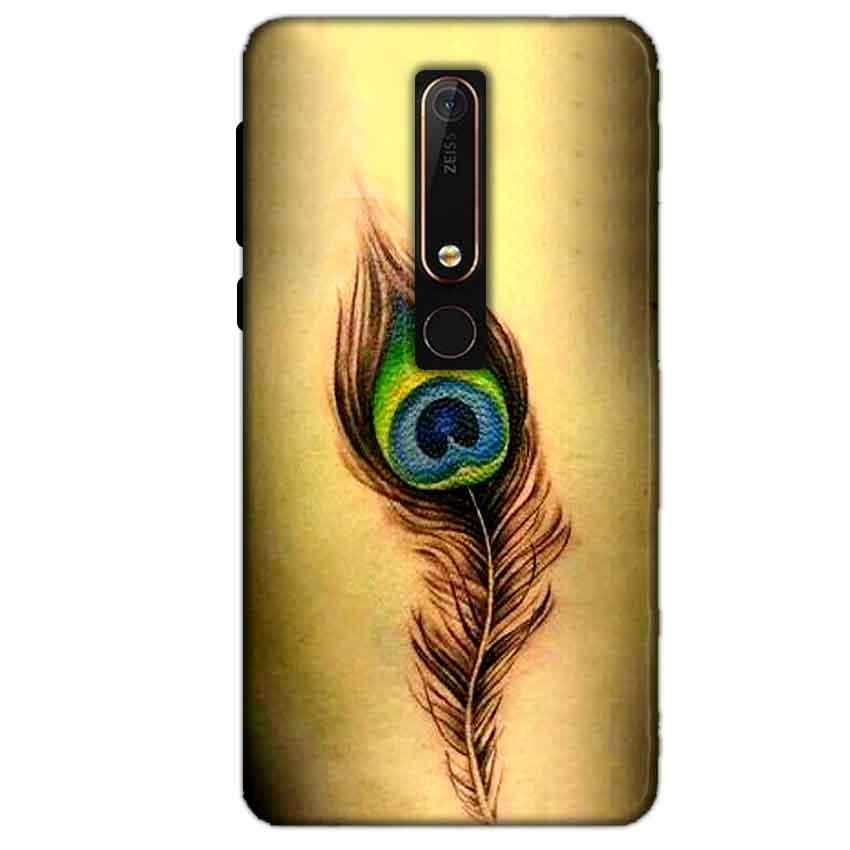 Nokia 6 2018 Mobile Covers Cases Peacock coloured art - Lowest Price - Paybydaddy.com