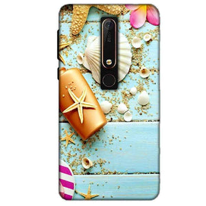 Nokia 6 2018 Mobile Covers Cases Pearl Star Fish - Lowest Price - Paybydaddy.com