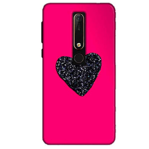 Nokia 6 2018 Mobile Covers Cases Pink Glitter Heart - Lowest Price - Paybydaddy.com