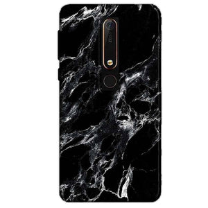 Nokia 6 2018 Mobile Covers Cases Pure Black Marble Texture - Lowest Price - Paybydaddy.com