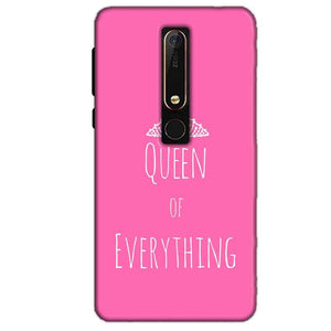 Nokia 6 2018 Mobile Covers Cases Queen Of Everything Pink White - Lowest Price - Paybydaddy.com