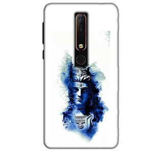 Nokia 6 2018 Mobile Covers Cases Shiva Blue White - Lowest Price - Paybydaddy.com