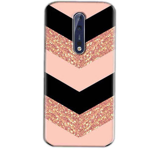 Nokia 8 Mobile Covers Cases Black down arrow Pattern - Lowest Price - Paybydaddy.com