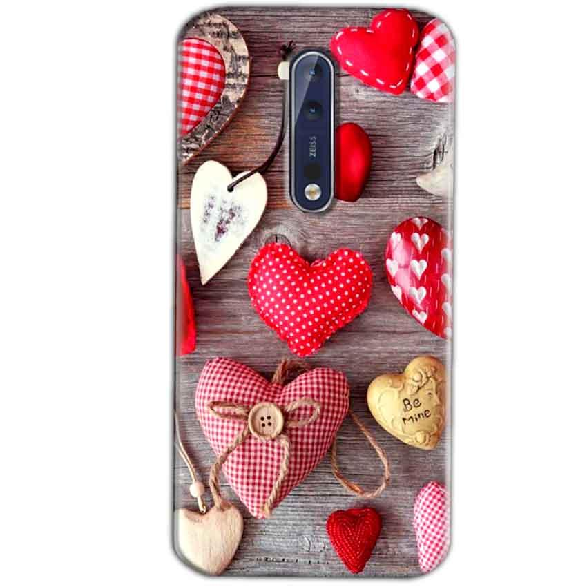Nokia 8 Mobile Covers Cases Hearts- Lowest Price - Paybydaddy.com