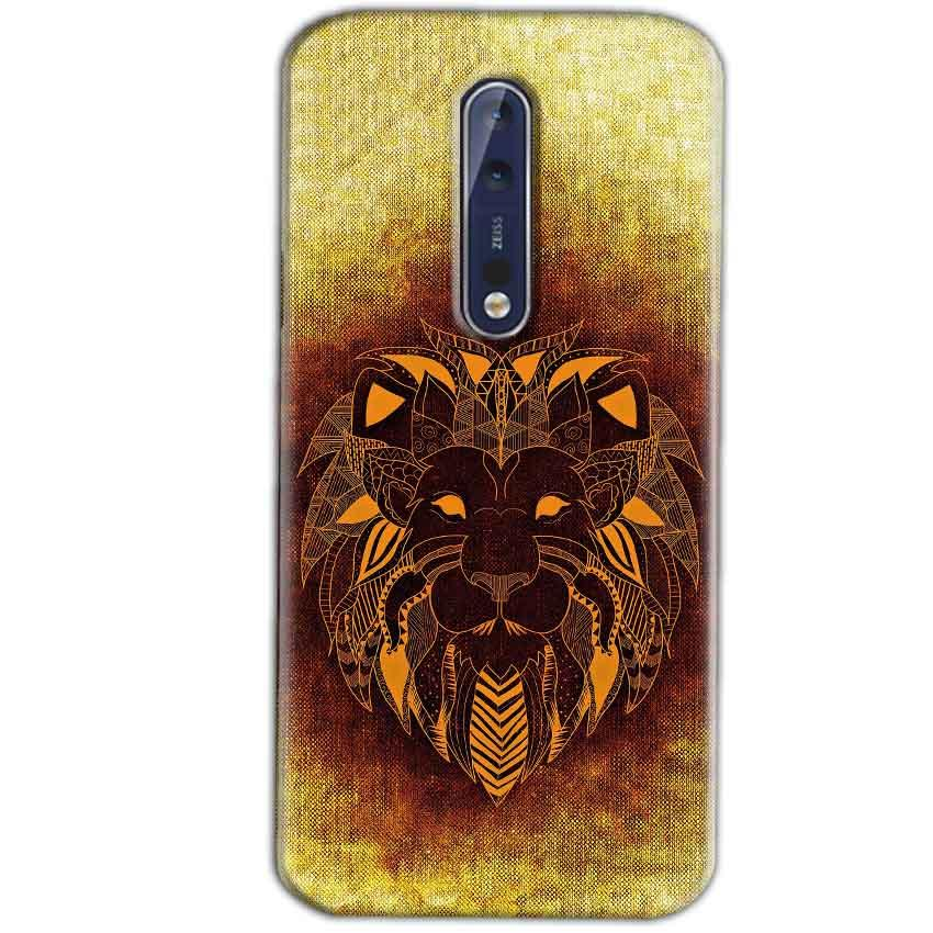 Nokia 8 Mobile Covers Cases Lion face art - Lowest Price - Paybydaddy.com