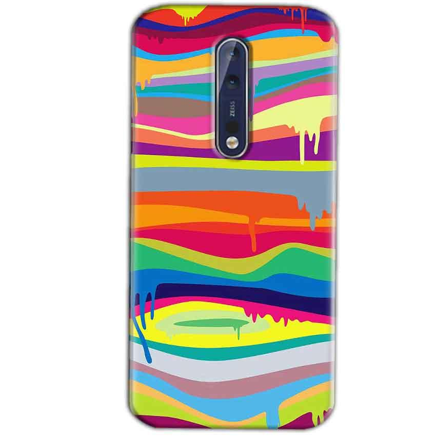 Nokia 8 Mobile Covers Cases Melted colours - Lowest Price - Paybydaddy.com