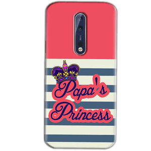 Nokia 8 Mobile Covers Cases Papas Princess - Lowest Price - Paybydaddy.com