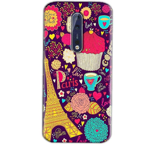 Nokia 8 Mobile Covers Cases Paris Sweet love - Lowest Price - Paybydaddy.com