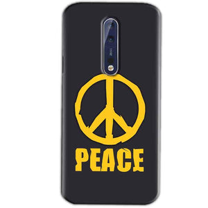 Nokia 8 Mobile Covers Cases Peace Blue Yellow - Lowest Price - Paybydaddy.com