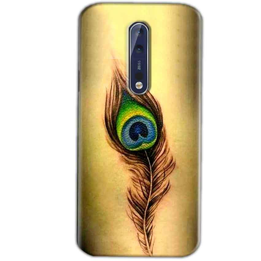 Nokia 8 Mobile Covers Cases Peacock coloured art - Lowest Price - Paybydaddy.com