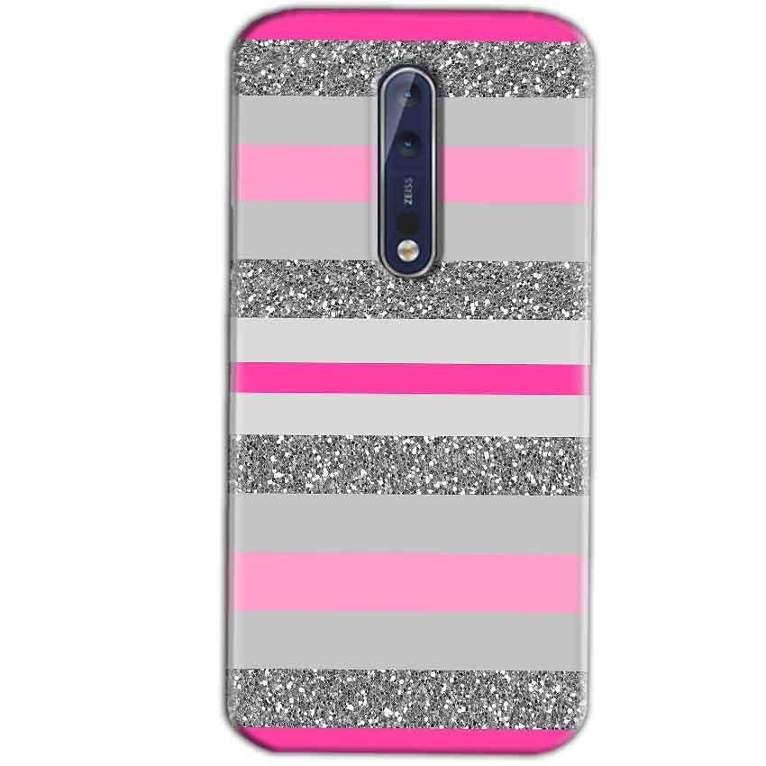 Nokia 8 Mobile Covers Cases Pink colour pattern - Lowest Price - Paybydaddy.com