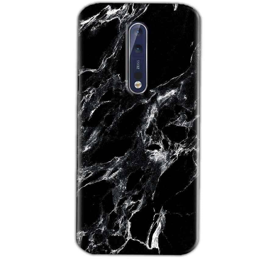 Nokia 8 Mobile Covers Cases Pure Black Marble Texture - Lowest Price - Paybydaddy.com