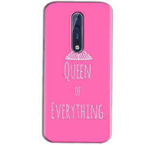 Nokia 8 Mobile Covers Cases Queen Of Everything Pink White - Lowest Price - Paybydaddy.com