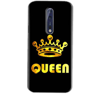 Nokia 8 Mobile Covers Cases Queen With Crown in gold - Lowest Price - Paybydaddy.com