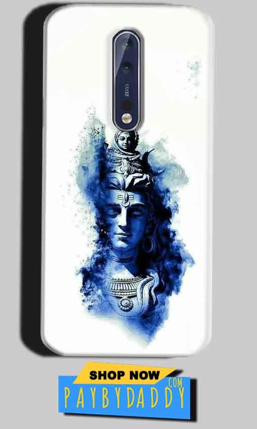 Nokia 8 Mobile Covers Cases Shiva Blue White - Lowest Price - Paybydaddy.com
