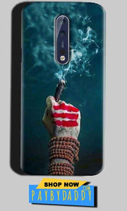 Nokia 8 Mobile Covers Cases Shiva Hand With Clilam - Lowest Price - Paybydaddy.com
