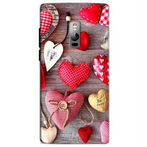 One Plus 2 Two Mobile Covers Cases Hearts- Lowest Price - Paybydaddy.com