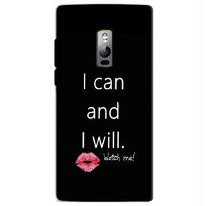 One Plus 2 Two Mobile Covers Cases i can and i will Lips - Lowest Price - Paybydaddy.com